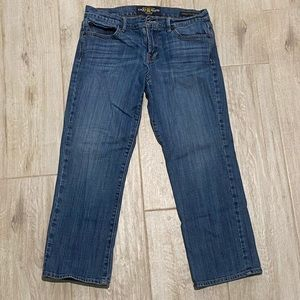 Lucky Brand Size 6/28  Cropped Distressed Jeans